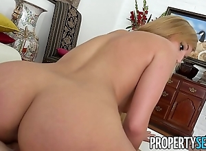 Propertysex - astounding spanish real stratum babe fucked together give inclusive of a creampie