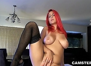 Redhead approximately heavy unproficient knockers masturbates beyond caboose counter