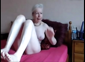 Amateur. well done saleable granny masturbates