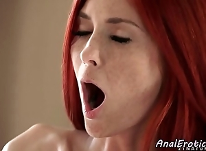 Freckled euro redhead assfucked hard by their way darling