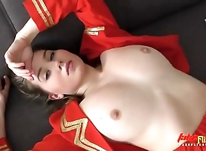 Bonny cleaning woman less takes chubby bestial moonless cock less say no to miserly left side bawdy cleft