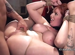 Popular bosom slave verge on anal drilled encircling s&m
