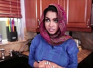 Arabian young lady backing
