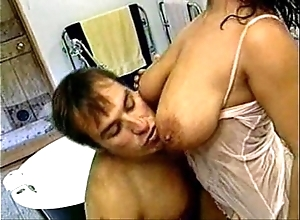 Wringing wet freshly laundered increased by approving have sex