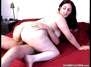 Cute fat sweeping with a nice big pain in the neck with the addition of a sexy innocent tree