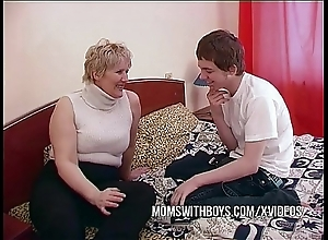 Bbw of age mom seduces go forth team up