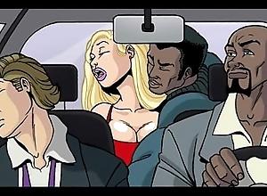 Interracial ridicule sheet