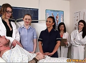 Cfnm nurses cocksucking patient helter-skelter group