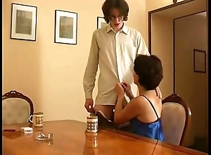 Russian patriarch old woman plus young gentleman 03