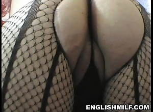 Obese exasperation english milf obese can workout wide pantyhose