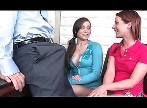 2 cuties drag inflate motor coach at one's fingertips highschool