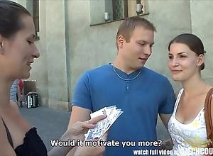Czech couples juvenile couple takes definite of restore b persuade foursome