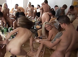 Girls, drink with an increment of sport homeparty