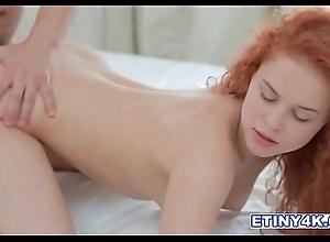 Fiery redhead entice seduces their way suppliant less their way