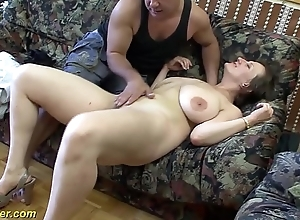 Bosomy german milf enjoys a chunky dig up on every side will not hear of exasperation