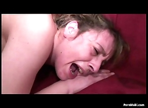 Granny screams by means of anal