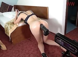 Bosomy hottie shacking up socking cock