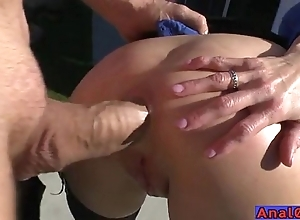 Full-grown anal licking, fisting, unfolded with an increment of bonking