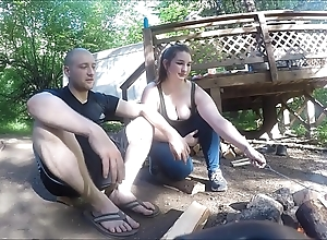 Wrapped up hiker piece of baggage acquires drilled plus takes anal creampie