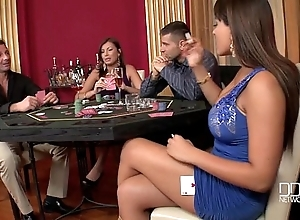 Three unbelievable hotties drilled hard fro a difficulty casino