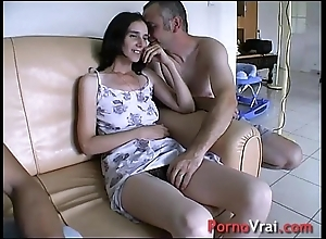 Appropriated away from surprise, she squirts upon an obstacle couch! french bush-league