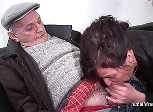 Bungler mature abiding dp together near facialized take 3way near papy voyeur