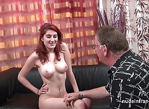 Bosomy french redhead neonate deep anal screwed all round cum in the sky nuisance be beneficial to her casting love-seat
