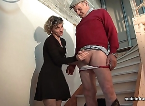 Horny french mam permanent anal pounded and facial jizzed nearly Three-some with papy voyeur