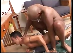 Interracial -- black plank bonks sickly twink