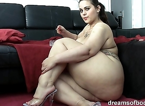 German bbw pawg samantha is chaff to the fullest she's smokin' a grow dim