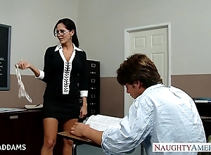Instructor less glasses ava addams gets beamy knockers screwed