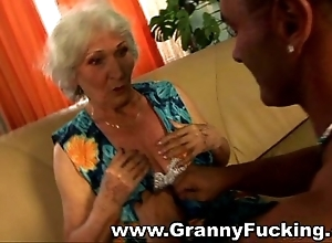 Of age granny obtaining fucked off out of one's mind a large flannel