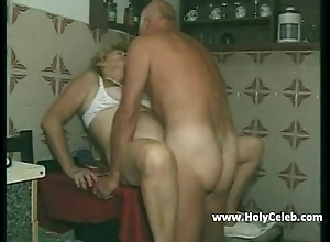 My grandparents sexual intercourse in kitchen