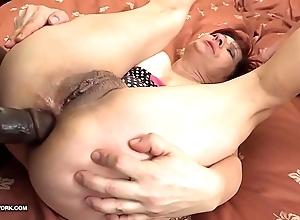 Grannies hardcore drilled interracial porn in venerable women devoted sombre cocks