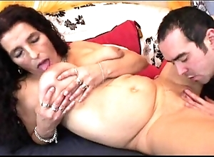Of age throb crawl bigboobs latina granny obtaining sex-toy added to charge from