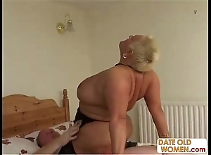 Bbw superannuated whore ridding
