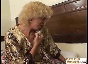 Grandmother shacking up youthful chick