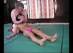 Wrestling - andrea spinks (pixie) vs fine gonzo