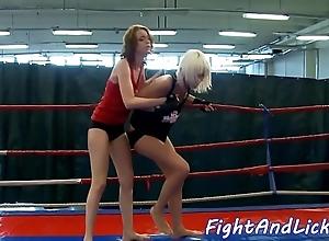 Redhead dyke fingered limitation wrestling